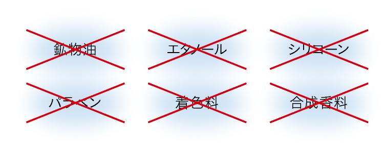 やさしさのために使用しない6つの成分