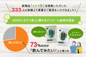 新商品「オクラ茶」アンケート結果の紹介